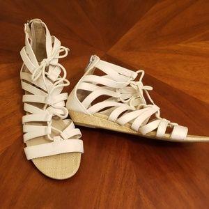 SAM Edelman gladiator lace up sandals cream 9